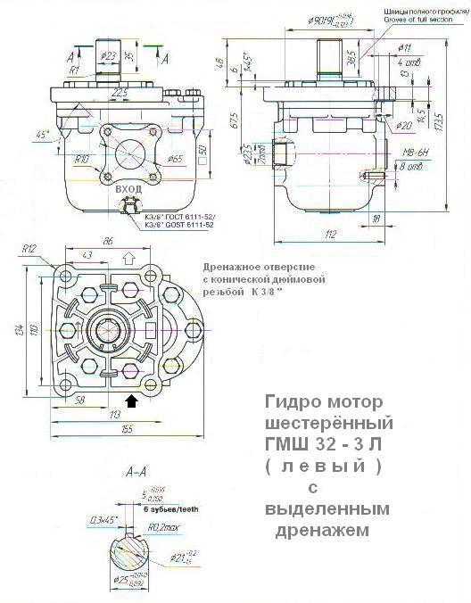 Как узнать вращение гидромотора гмш